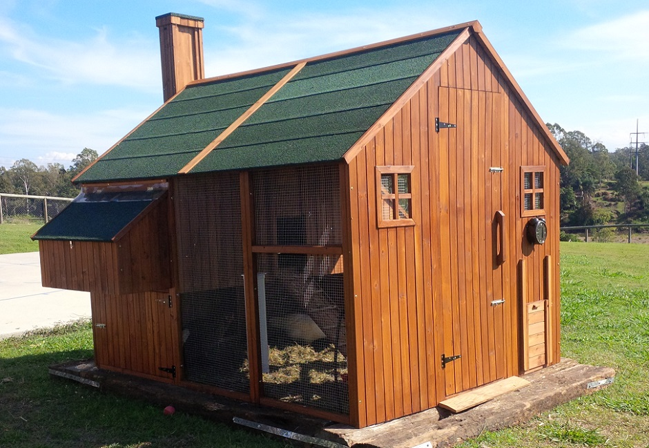 MANSION chicken coop oiled