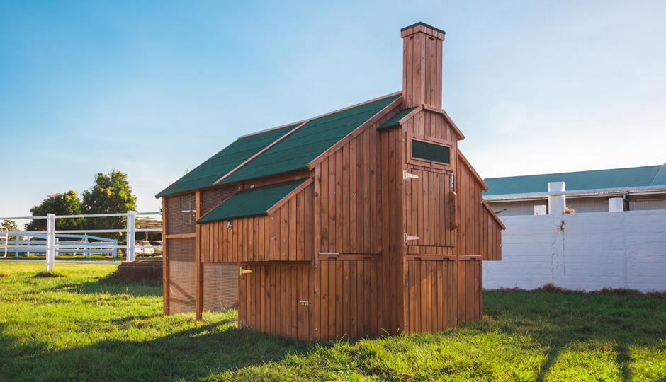 The Mansion Backyard Chicken Coop