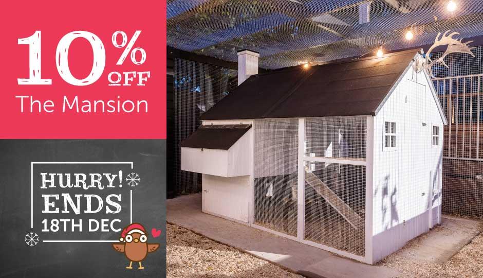 outdoor mansion chicken coop