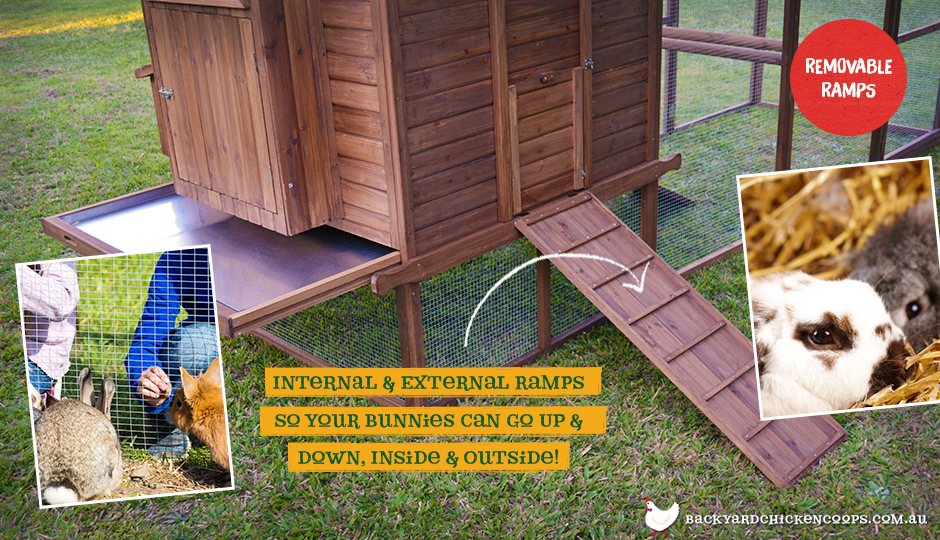 Rabbit den bunny enclosure ramp and cleaning trays