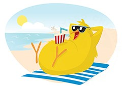 chicken-at-the-beach