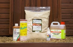 The complete hen health kit.