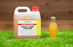 The 2L Apple Cider Vinegar For Chickens on display