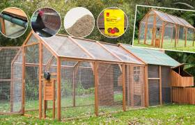 double run and mansion chicken coop package sale