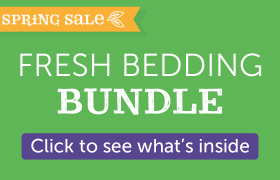 fresh bedding bundle hemp bedding and drum