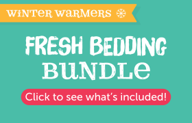 fresh bedding bundle accessories