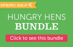 hungry hens bundle for spring - treadle feeder drum and poultry forage seeds