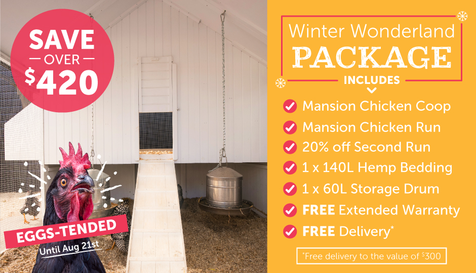 winter warmers outdoor mansion chicken coop and double run