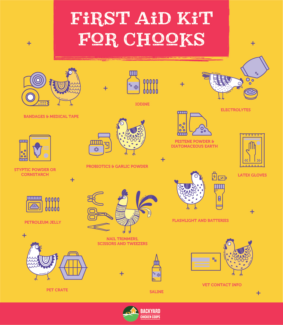 first aid kit for backyard chickens